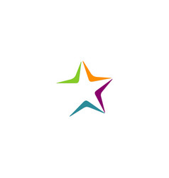 star colorful logo vector image
