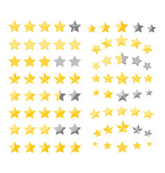 stars quality rating vector image