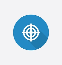 Target Flat Blue Simple Icon with long shadow vector