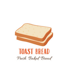 Toast bread slice icon vector