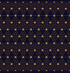 triangles hexagon gold black vector image