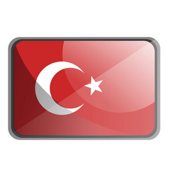 turkey flag on white background vector image