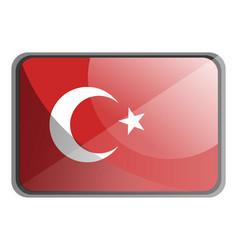 turkey flag on white background vector image