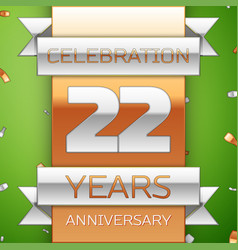 Twenty two years anniversary celebration design vector
