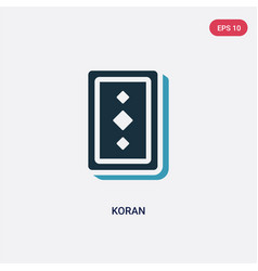 Two color koran icon from religion concept vector