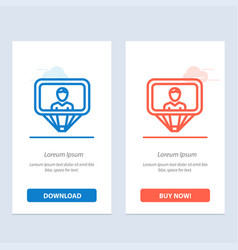 User profile id login blue and red download and vector