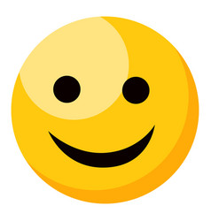 yellow smiling happy face emoji isolated vector image