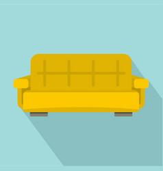 yellow sofa icon flat style vector image