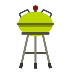 Barbecue grill icon flat style vector