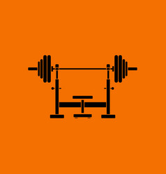 bench with barbel icon vector image vector image