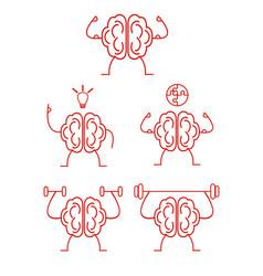 brain power training vector image vector image