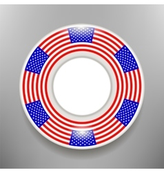 Ceramic Plate with American Flag Print Isolated vector image vector image
