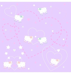 Cute lambs vector image vector image