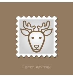 Deer stamp animal head vector