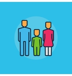 Family flat minimal vector image