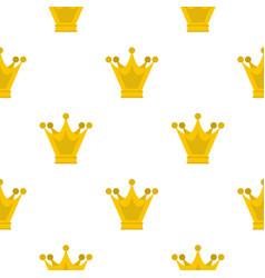 princess crown pattern flat vector image