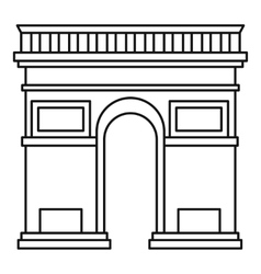 Triumphal arch icon outline style vector image