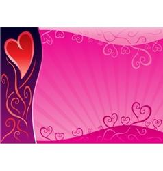 Valentine design vector image