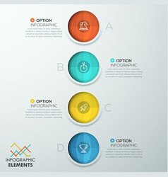 vertical infographic design template vector image vector image