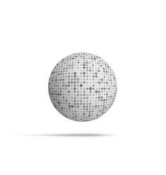 Ball shape with mosaic texture vector