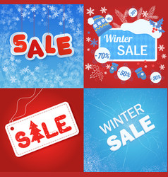 blue and red colored winter vector image vector image
