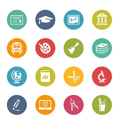Education-Icons Fresh-Colors-Series vector image vector image