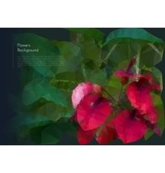 Flower polygonal mosaic eps 10 vector image vector image