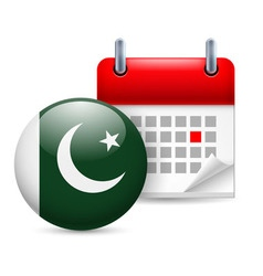 Icon of national day in pakistan vector image vector image