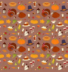 happy thanksgiving day design holiday seamless vector image vector image