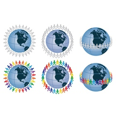 people around the globe vector image vector image