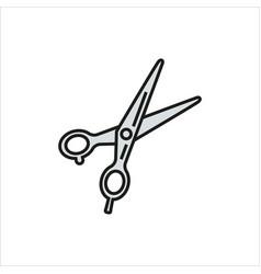 scissors icon on white background vector image vector image