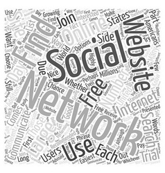 Social Networking Websites How to Find Them Word vector image