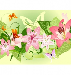 summer pattern with lilies vector image vector image