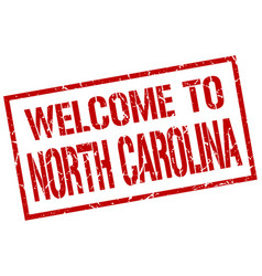 welcome to north carolina stamp vector image vector image