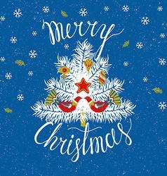 Christmas tree Merry Christmas card vector image