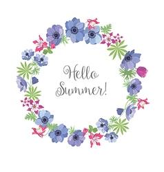 Floral Frame Summer Greeting Card Design T-shirt vector image