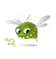 flying bug vector image
