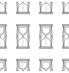 Hourglass Seamless pattern Flat icon vector image vector image