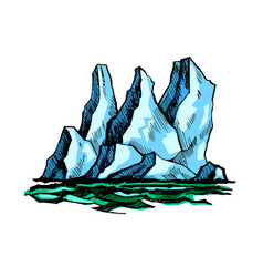 iceberg above the water vector image vector image