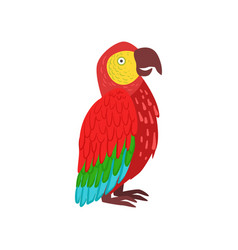red macaw parrot vector image vector image