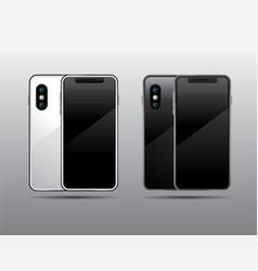template smartphone blackampwhite mock up vector image vector image