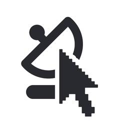web antenna icon vector image vector image