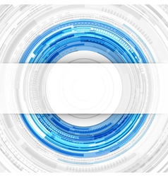 Abstract technology circles and transparent paper vector