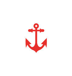 anchor for boat and yacht logo design vector image