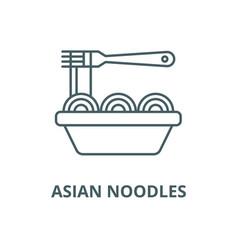 asian noodles line icon linear concept vector image
