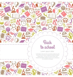 Back to school background with space for text vector image