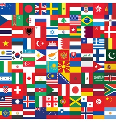 background made of flag icons vector image