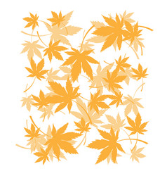 Background with dead autumn leaves orange foliage vector