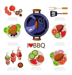BBQ Infographics vector image
