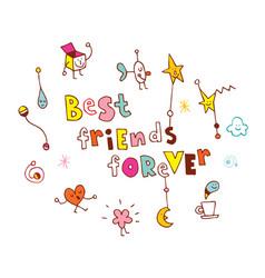 Best friends forever vector